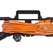 Удлинитель-шнур силовой на рамке УШз16 TDM (штепс. гнездо, 30м ПВС 3х1,0) фото