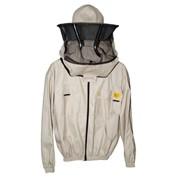 Куртка пчеловода с замком с лицевой сеткой фото