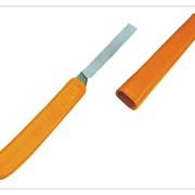 Нож прививочный виноградный НПВ с футляром, пласт.ручка фото