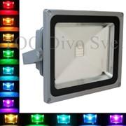 Светодиодный Прожектор RGB 30W. Прожектор 30 Ватт разноцветный фото