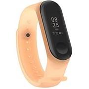 Силиконовый полупрозрачный ремешок для Xiaomi Mi Band 4 (Оранжевый) фото