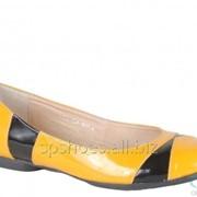Туфли женские 150, желтый, черный фото