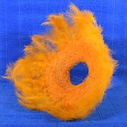 Plastiflora Каркас для букета 25см сизаль гл с перьями оранжевый фото