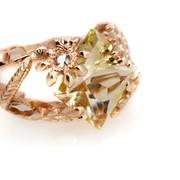 Кольцо из золота с бериллом Артикул: К103 фото