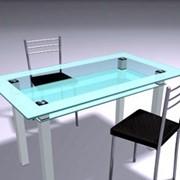Стол обеденный из стекла C8 фото