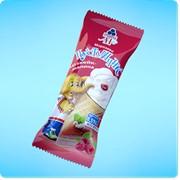 Мороженое Пустунчик. Чизкейк-малина фото