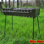 Раскладной мангал - чемодан на 12 шампуров + комплект шампуров фото