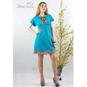 Платье 1651 Голубой цвет фото