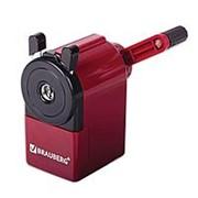 Точилка механическая Brauberg пластм., метал. механизм, чёрный/бордовый, 222517 фото