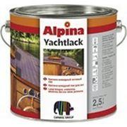 Лак стойкий к морской воде Alpina Yachtlack, 10 л. фото