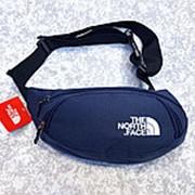 Поясная сумка The North Face темно-синяя фото