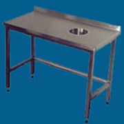 Стол производственный для сбора отходов (без нижней полки или с ней) длина от 600 до 1900 мм фото
