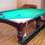Перетяжка и реставрация бильярдных и покерных столов фото