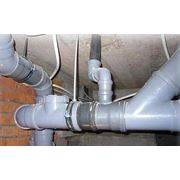 Монтаж линий водообеспечения и канализации фото