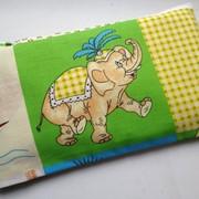 Подушка-грелка (термоподушка) с вишневыми косточками / семенами льна фото