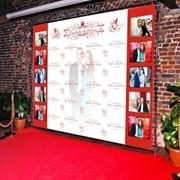 Баннер на свадьбу, Свадебный баннер Астана, Баннер на день рождение. фото
