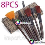 Набор профессиональных кисточек для макияжа с сумкой 8 шт фото