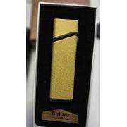 Зажигалка USB Lighter матовая золото фото