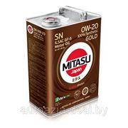 Масло моторное MITASU GOLD SN 0W-20 ILSAC GF-5 100% Synthetic 4л. фото