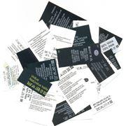 Этикетки информационные на полиэстере нейлоне фото