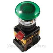 Кнопка AELA22 «Грибок» d22мм неон/240В 1з+1р желтый, зеленый, красный, синий фото