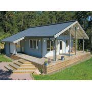 Строительство домов из пакетного бруса LogECO фото