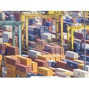 Перевозки морских контейнеров. фото