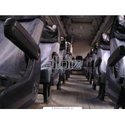 Обшивка мягких элементов автобусов фото