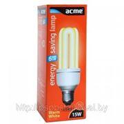 Лампа энергосберегающая 3U (15W E27) фото
