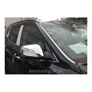 Хром накладки боковых зеркал Hyundai Santa Fe 2013- фото