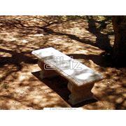 Скамейка бетонная фото