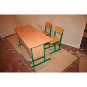 Парта ученический со стульями фото