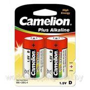 Элементы питания Camelion LR20 2BL Plus Alkaline (батарейка,1.5В) 2 штуки. фото