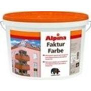 Краска Alpina Fakturfarbe 100 Base 1 (белая), 15 кг фото