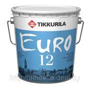 Tikkurila EURO-12 (Евро-12) — полуматовая износостойкая акриловая краска 0,9л фото