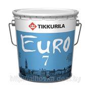 Tikkurila EURO-7 (Евро-7) — матовая акриловая краска 9л фото
