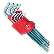 Набор Г-образных ключей TORX с отверстием 9 шт, Т10-Т50, Cr-V, Big INTERTOOL HT-0606 фото