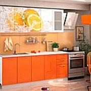 """Кухня с фотопечатью """"Апельсин"""" 2м. фото"""
