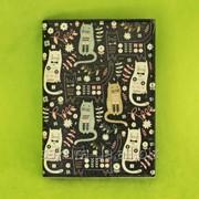 Обложка на Паспорт / Котики на Черном / Экокожа x00041 фото
