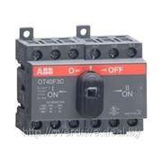 Выключатель нагрузки реверсивный OT40F3C, 3P, схема I-0-II, без рукоятки фото