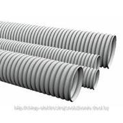 Труба гофрированная ПВХ 40 с зондом, строительная (15 м/уп) фото