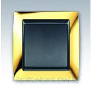 Выключатель одноклавишный Simon 82 (золото,24карат) фото