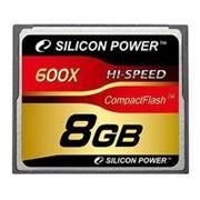 Флеш карта Compact Flash (CF) 8Gb Silicon-Power 600x (SP008GBCFC600V10)