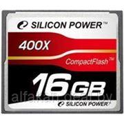 Флеш карта Compact Flash (CF) 16Gb Silicon-Power 400x (SP16GBCF400X) фото