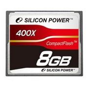 Флеш карта Compact Flash (CF) 8Gb Silicon-Power 400x (SP008GBCFC400V10) фото