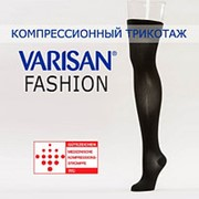 Чулки компрессионные Varisan Fashion 1 класса компрессии V-F23N9, черные фото