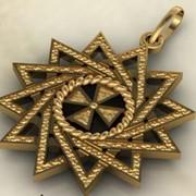 Кулон Звезда Эрцгаммы золото фото