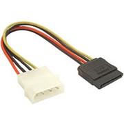 Переходник питания Molex штекер на 1 SATA F гнездо AT3798 кабель 15 см фото