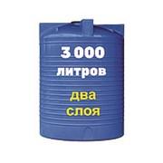 Резервуар для хранения и перевозки биодизеля, питьевой воды 3000 литров, синий, верт фото