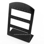 (12,5 х 9 см.)Подставки под серьги пластиковая, черная (пуссеты, обычные) 16 фото